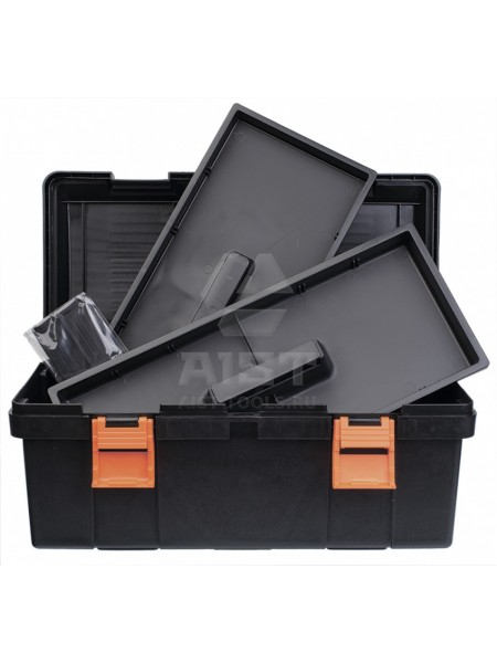 Ящик д/инструмента с крышкой пластиковый, 370х180х125 мм 90001803