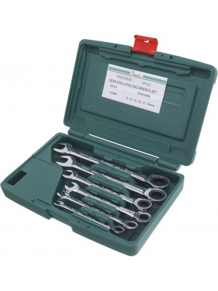 Комплект трещеточных комбинированных ключей, 8-19 мм, 6 шт 166506MB
