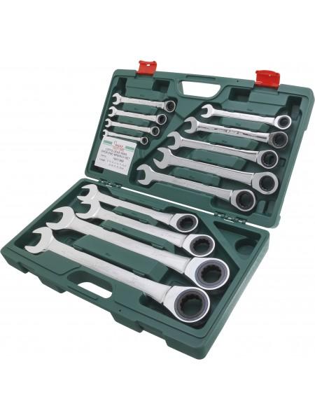 Комплект трещеточных комбинированных ключей, 8-32 мм, 13 шт 166513MB