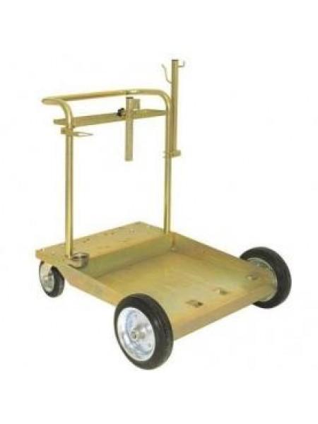 Тележка усиленная для бочек 180/220 кг с местом под катушку 1708003