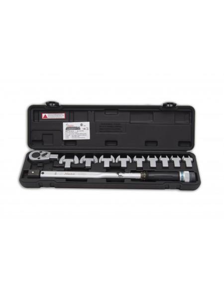 """Ключ динамометрический с набором рожковых насадок 13-30, 40-200 Nm, 1/2"""" 4673"""