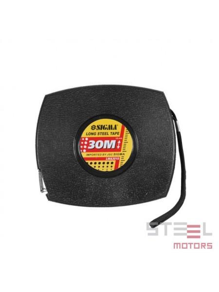 Рулетка стальная лента 30м*10мм (черная) LWA3010