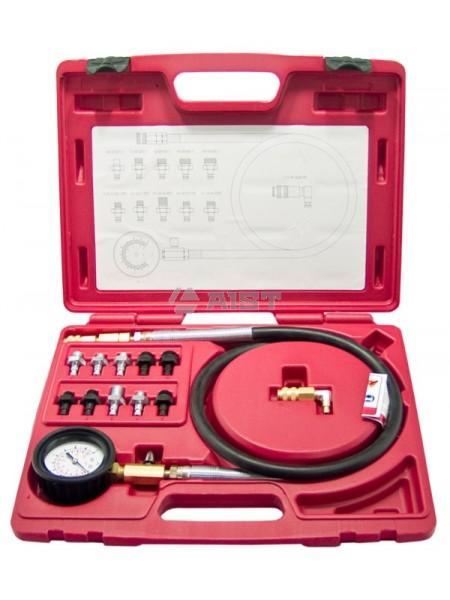 Тестер давления масла в наборе (0-10 кг/см2, 10 адаптеров), в пласт. кейсе 19210220-x