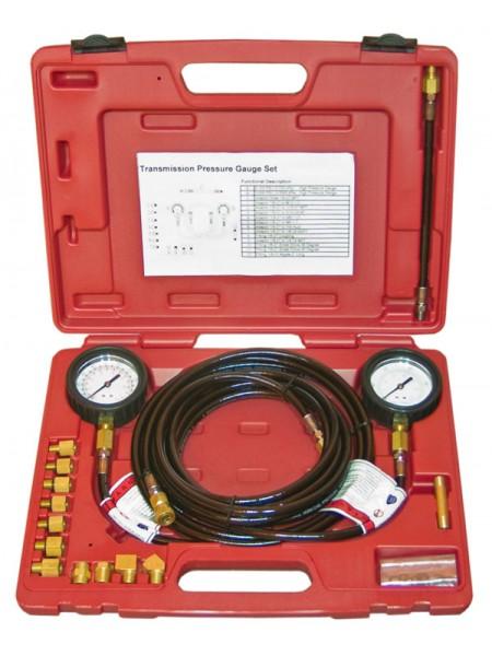 Тестер давления масла в наборе (0-35 кг/см2, 12 адаптеров), в пласт. кейсе 19210805