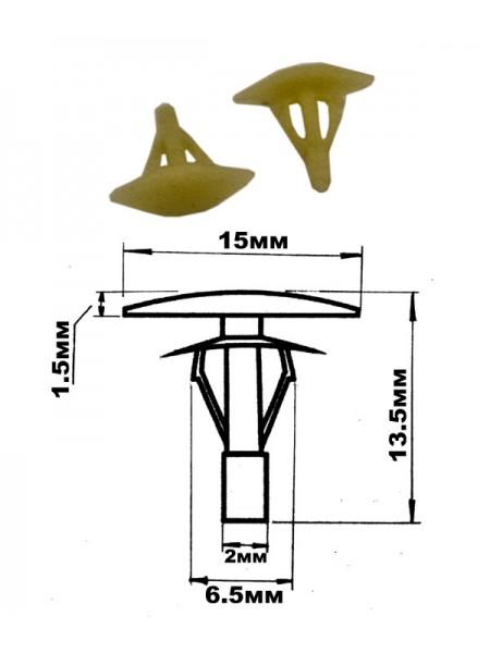 Клипса крепления обшивки, шумоизоляция, уп. 100шт. 67343030