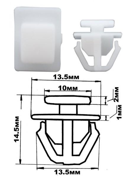 Клипса крепления обшивки HYUNDAI для дверей, уп. 100шт. 67343039