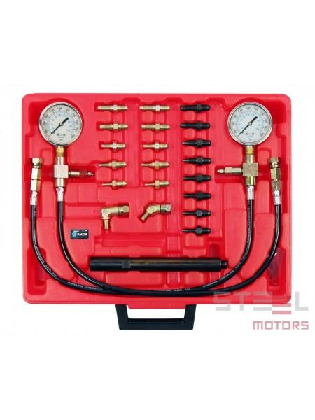 Тестер давления в тормозной системе в наборе 24 пр. 0-200 кг/см2, в пласт. кейсе 19198200