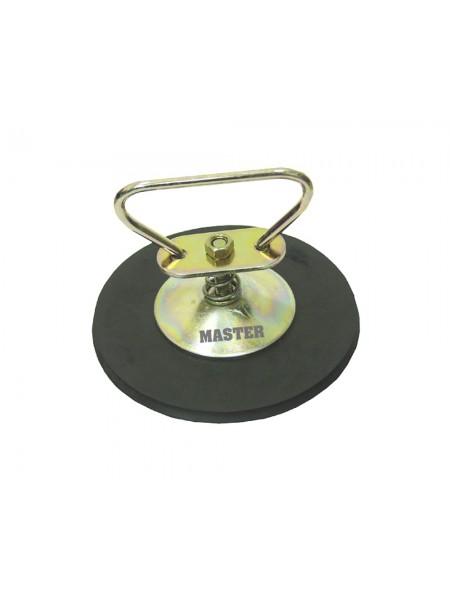 Съемник вакуумный (присоска) одинарный, 25 кг, d=150 мм, металл 67341501-м