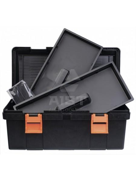 Ящик д/инструмента с крышкой пластиковый, 310х160х130 мм 90001804