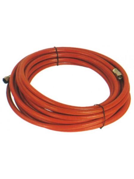 """Шланг гибкий полимерный 8.0х12.0 мм длина 5 м 10 кг/см2, с быстроразъемным соединением 1/4"""" 909680120-5ae"""