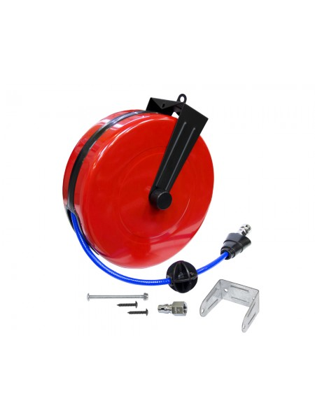 """Шланг гибкий 8.0х12.0 мм длина 10 м в бобине настенной с возвратным механизмом, 21 кгс/см2, с резьбовым соединением 1/4"""" 90980210"""