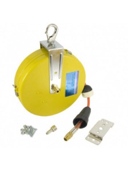 """Шланг гибкий 5.0х8.0 мм длина 7.5 м в бобине с возвратным механизмом 7 кг/см2, с резьбовым соединением 1/4"""" 90983175"""