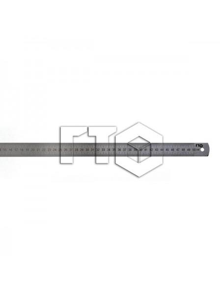 Линейка металлическая двусторонняя 500 мм 10010