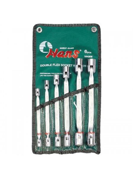 Набор шарнирных 12-гр. ключей 8-19 мм, 6 предметов 16406M