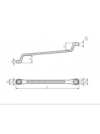 Ключ накидной 8х10 мм ТУ(40Х) Ц15хр КГН8х10 от КЗСМИ на сайте СТИЛМОТОРС