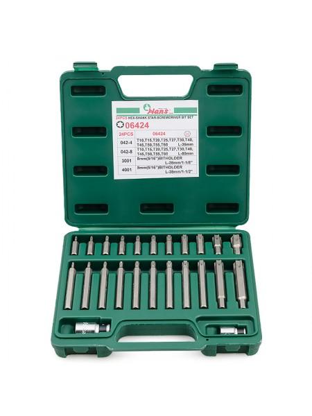 Комплект бит TORX 24 предмета в кейсе 06424